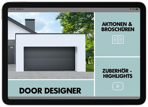 """Garagentore für die Hosentasche – Tore visualisieren: """"Door Designer""""-App von Teckentrup"""