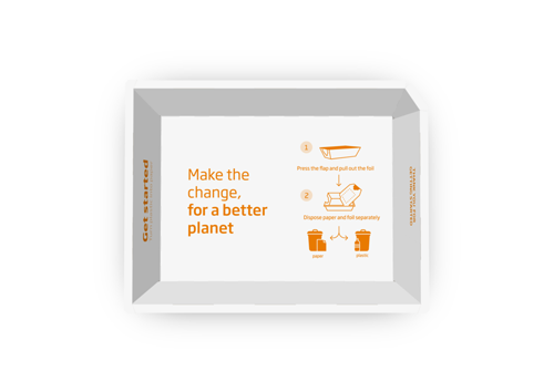 Lebensmittel-Verpackungslösung kann den Kunststoffanteil um bis zu 85 % reduzieren