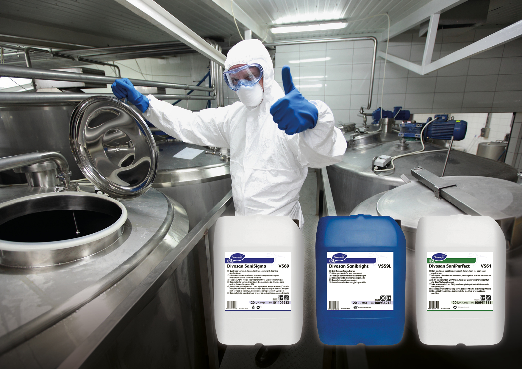 New Food-Safe Disinfectant Range Provides Quat-Free, Non-Tainting, 	Broad Spectrum Biocidal Convenience