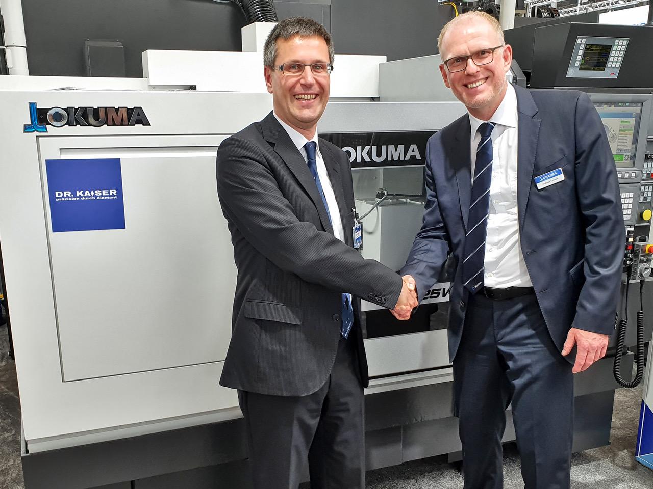 Cooperation of Okuma and Dr. Kaiser Diamantwerkzeuge Grinding experts combine expertise